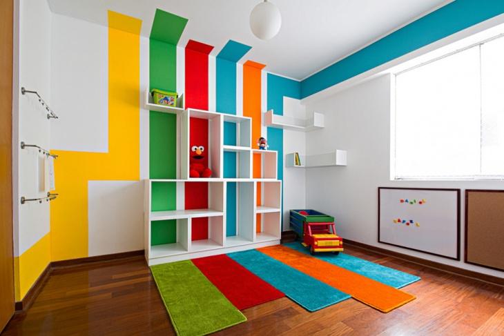 colorful kids playroom design