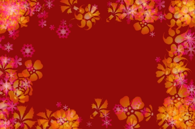 christmas flower border design