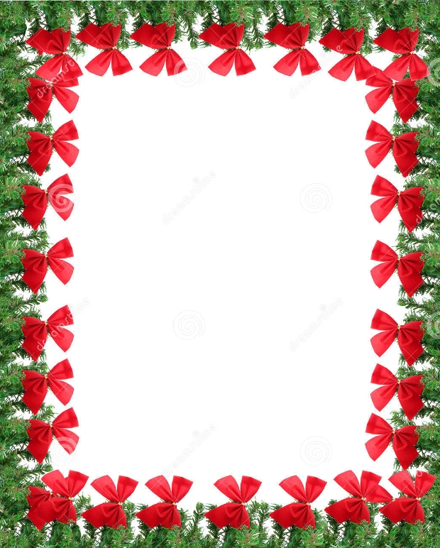 christmas card border design
