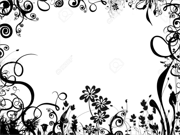 Border designs in black and white - Any design using black and white ...