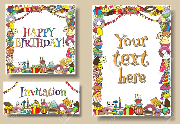 birthday card border design