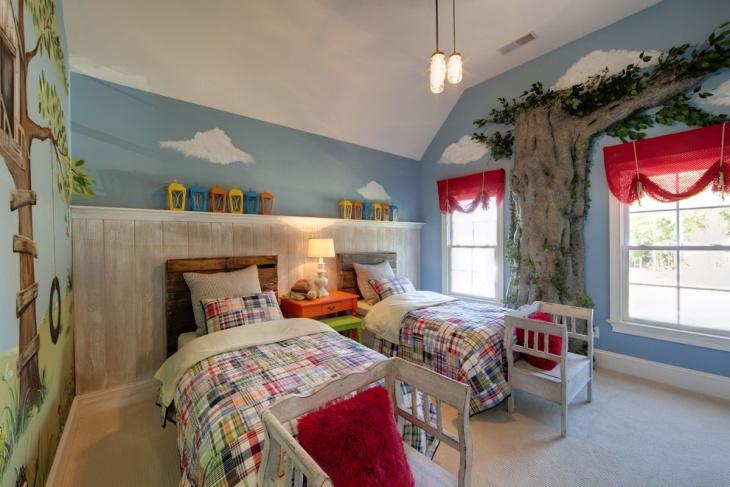 eclectic kids room interior design