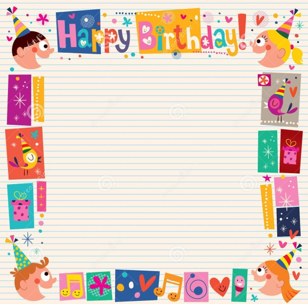 birthday decorative border