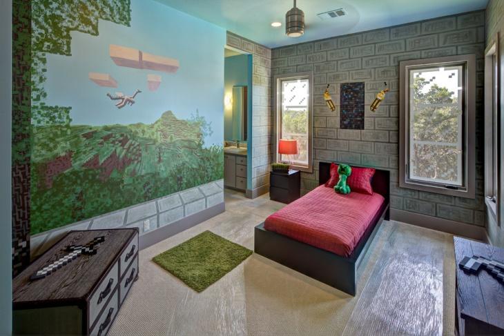 Minecraft Kids Bedroom