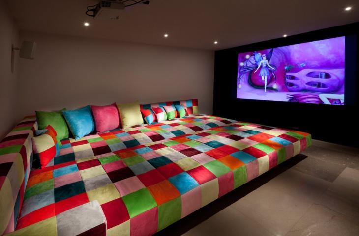 Contemporary Kids Media Room Design