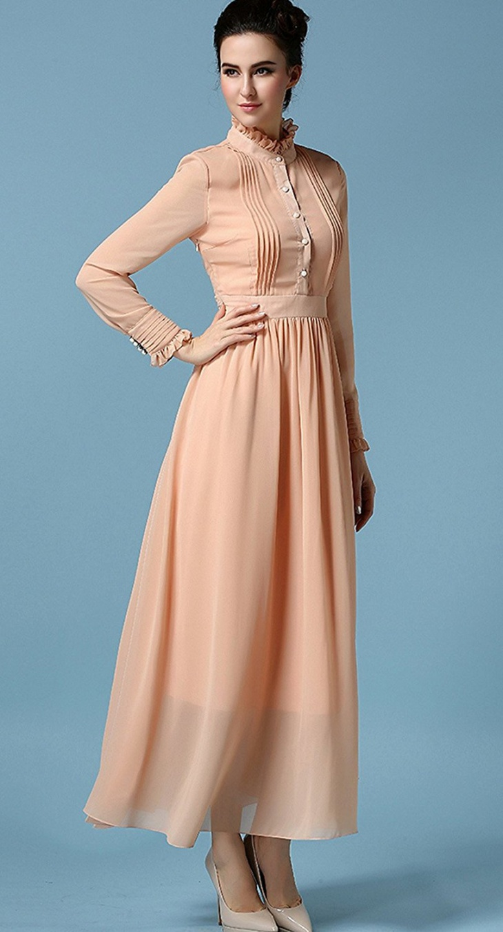 Long Vintage Prom Dress