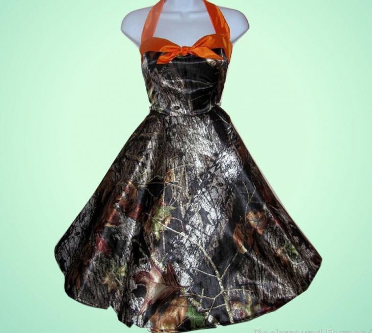 Short Camo Prom Dress