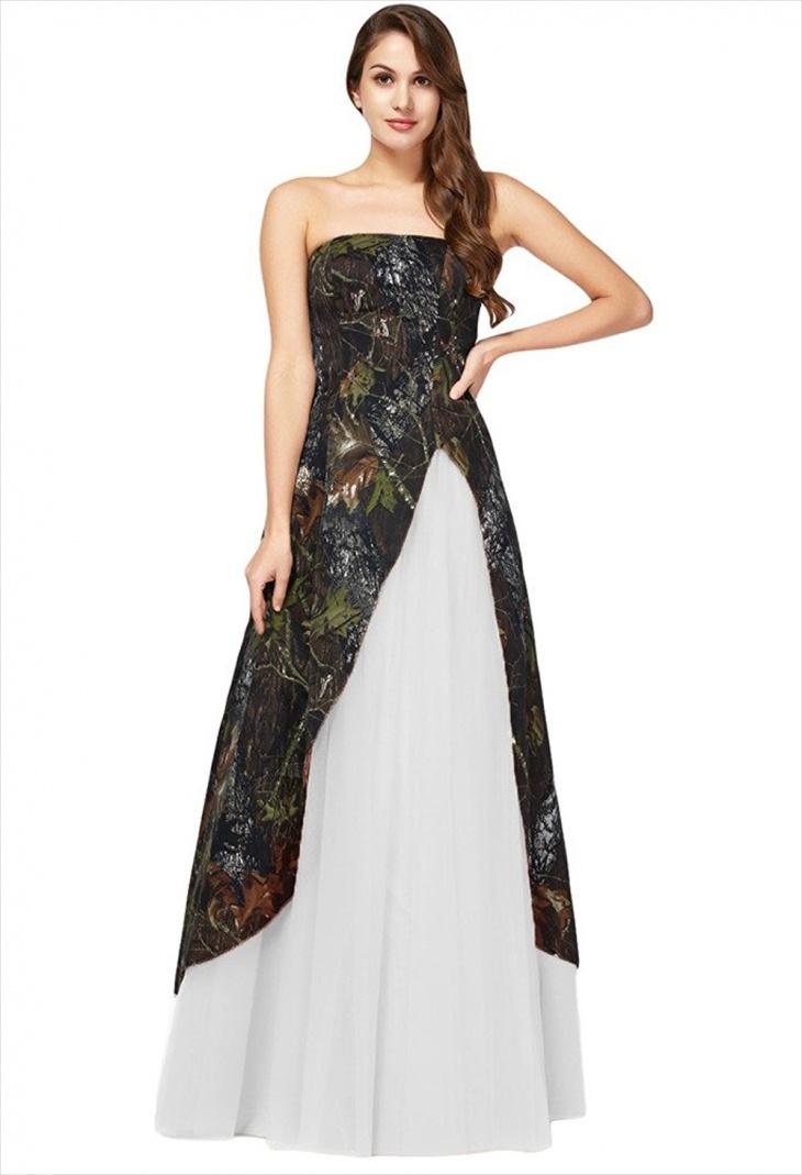 Maxi Camo Prom Dress