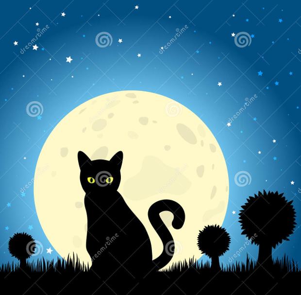 Halloween Cat Silhouette