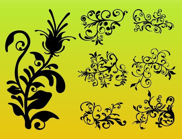 decorative flower silhouette