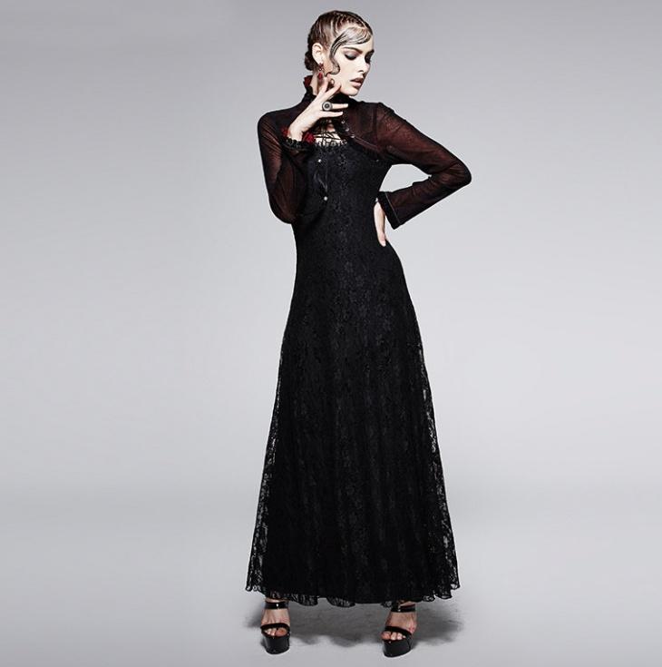 Black Gothic Prom Dress