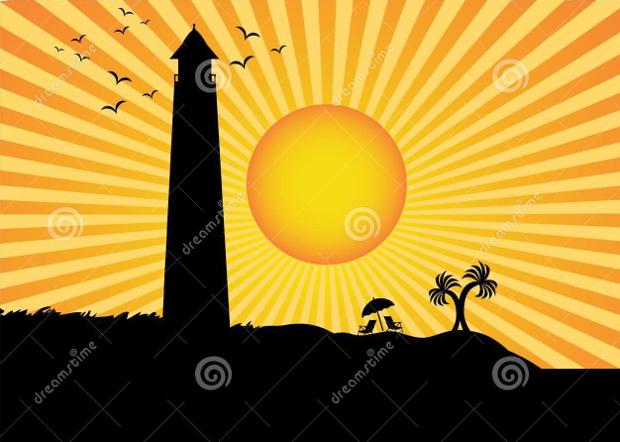 sun rays silhouette