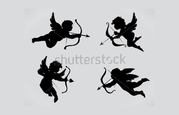 valentine angel silhouette