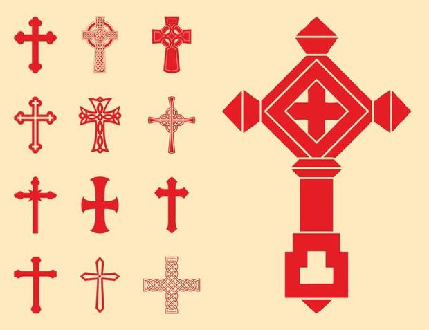 Religious Cross Silhouette