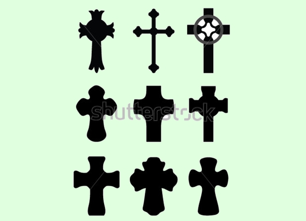 black cross silhouette
