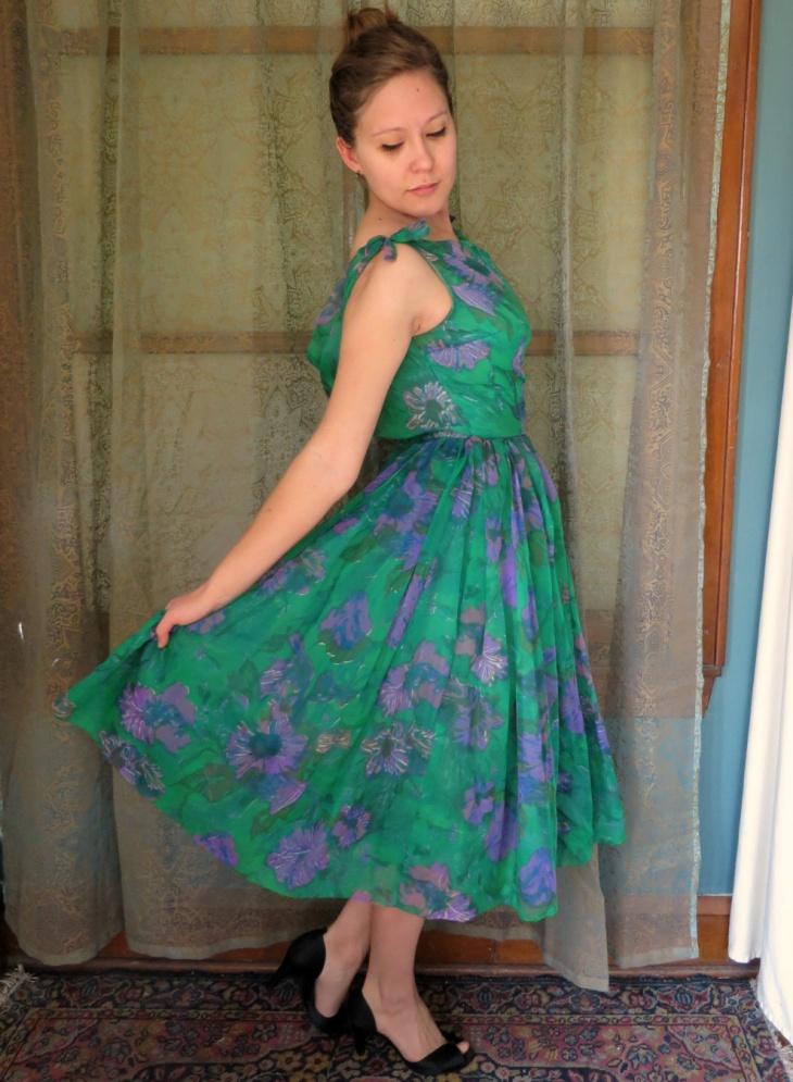 Floral Formal Prom Dress
