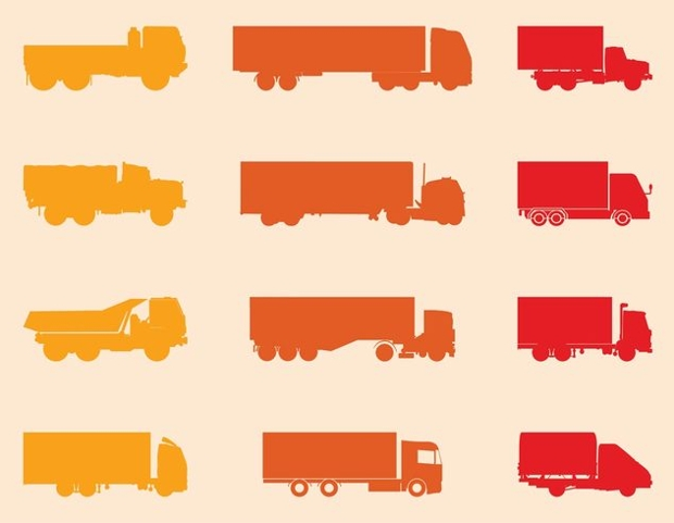 Colorful Truck Silhouette
