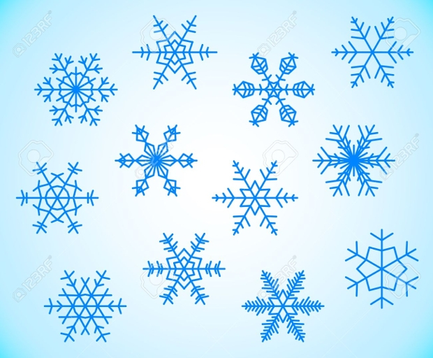 frozen snowflake silhouette