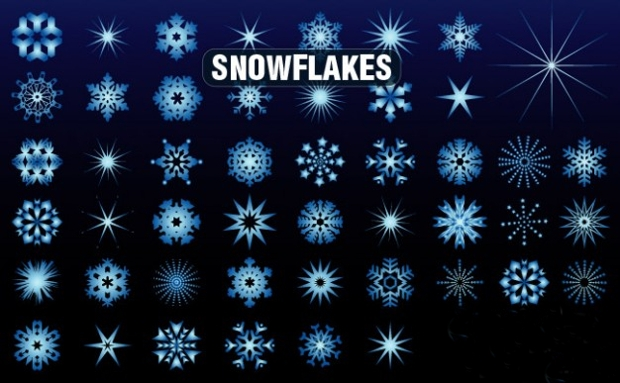 Simple Snowflake Silhouette