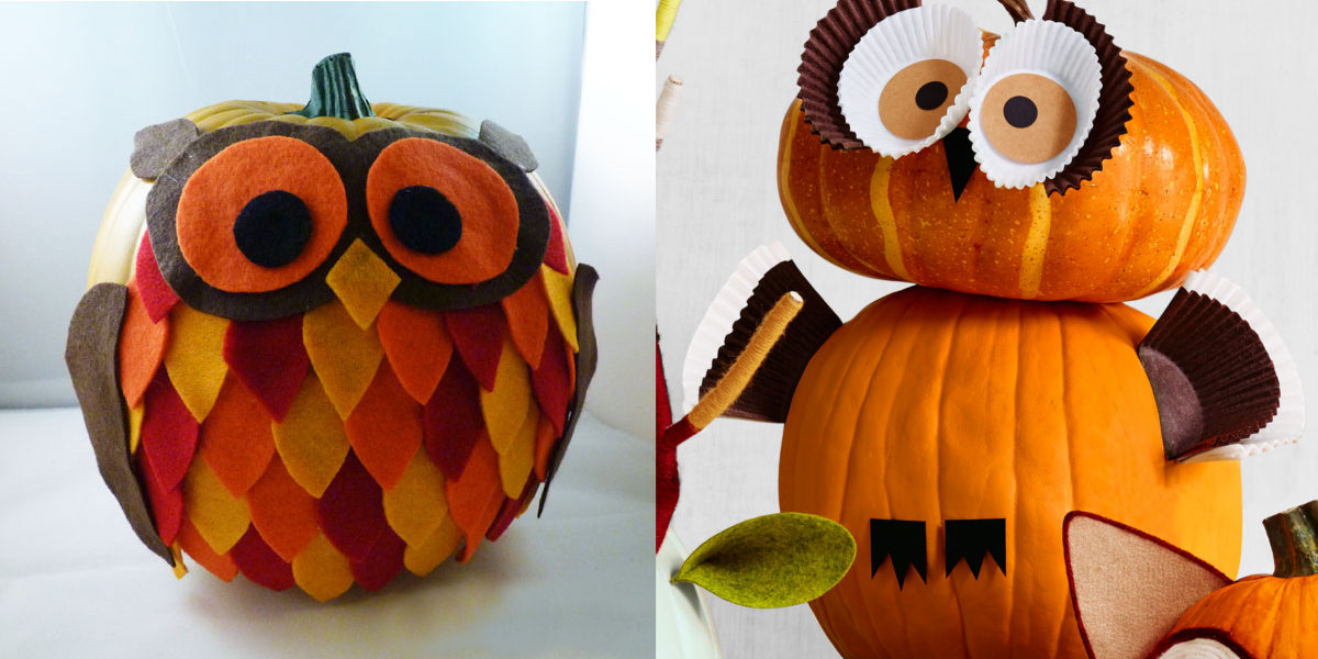 another owl pumpkin