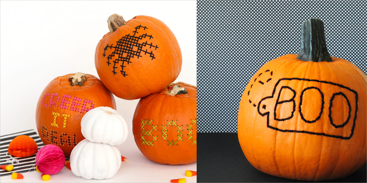 embroidered pumpkin