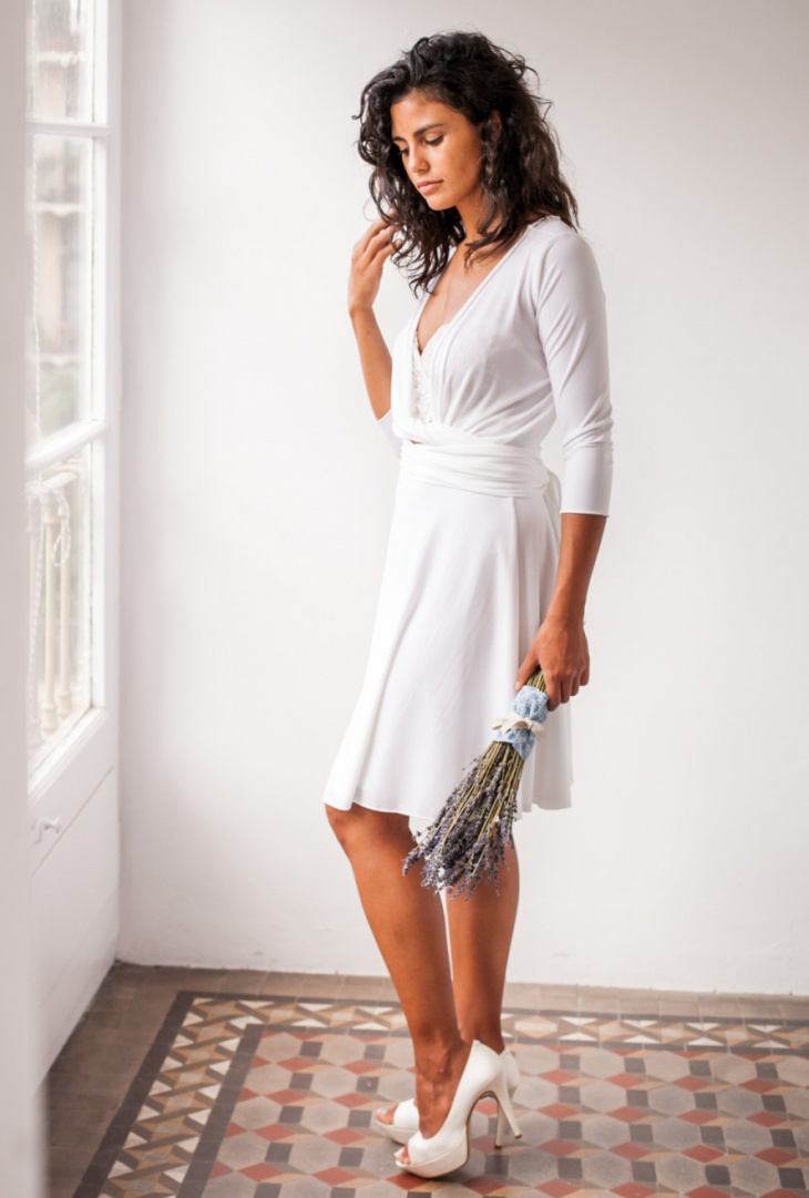 short casual wedding dress