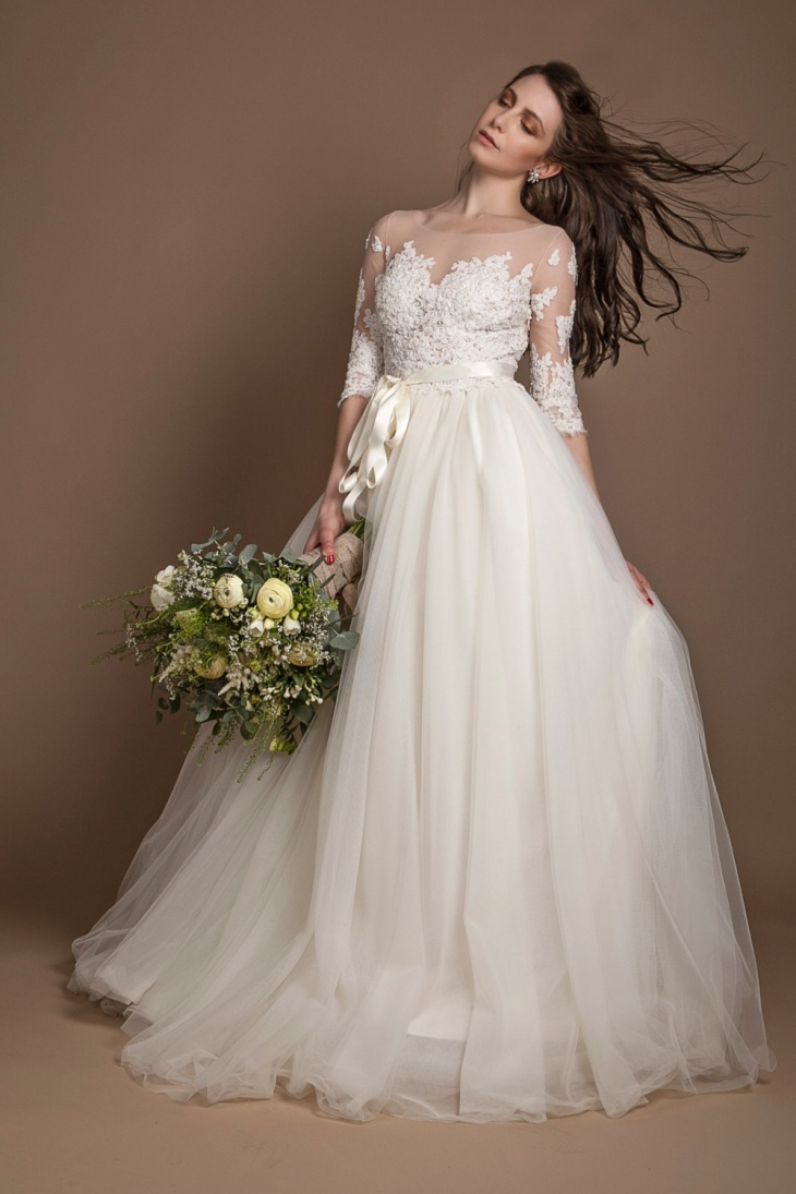 44 wedding dress designs ideas design trends premium for Long sleeve beaded wedding dress