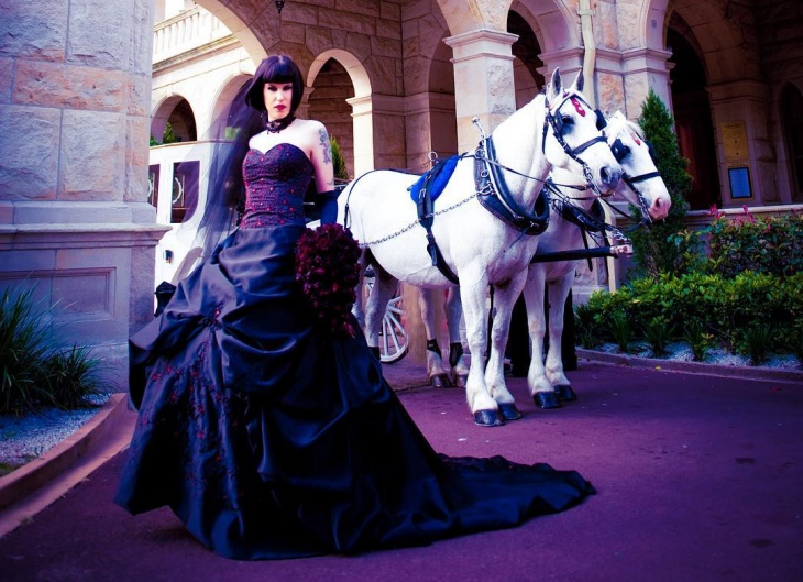 victorian gothic wedding dress
