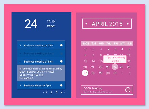 event schedule calendar template