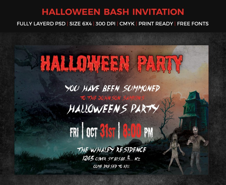 Halloween Zombie Invitation