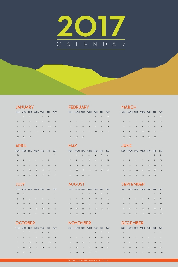 Calendar For Typography Nerds : Calendar designs psd ai indesign eps design