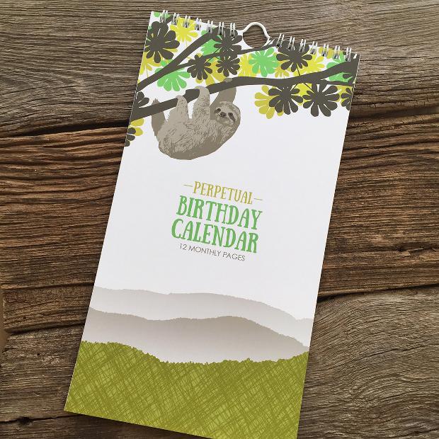 Birthday Perpetual Calendar Design