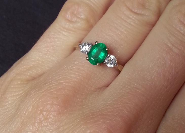 Emerald Stone Engagement Ring