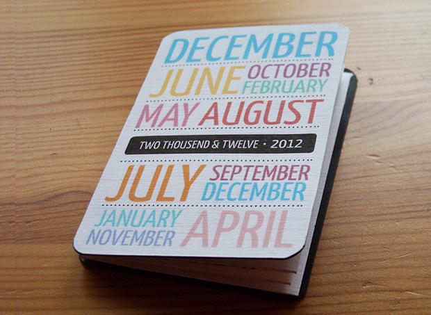 folding pocket calendar design