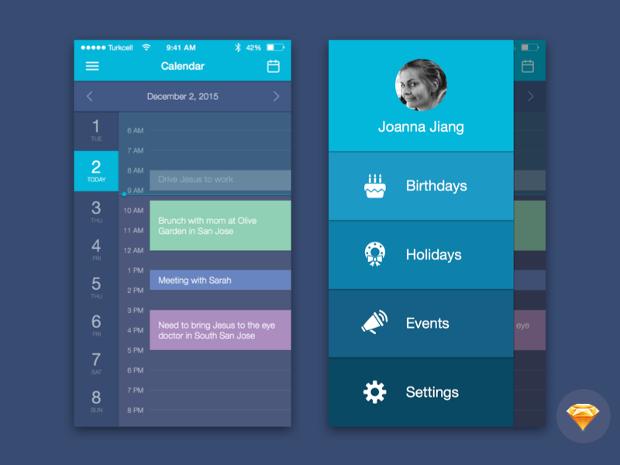 Mobile Web Calendar Design
