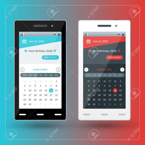 Mobile App Calendar Design