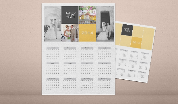 photo collage calendar template