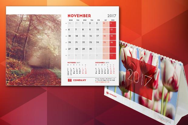 photo desk calendar template