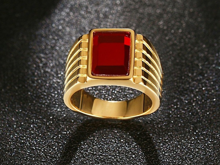 square band engagement ring
