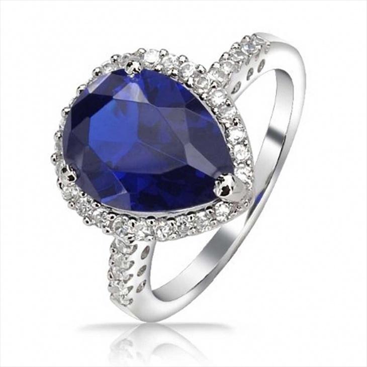 Teardrop Vintage Engagement Ring