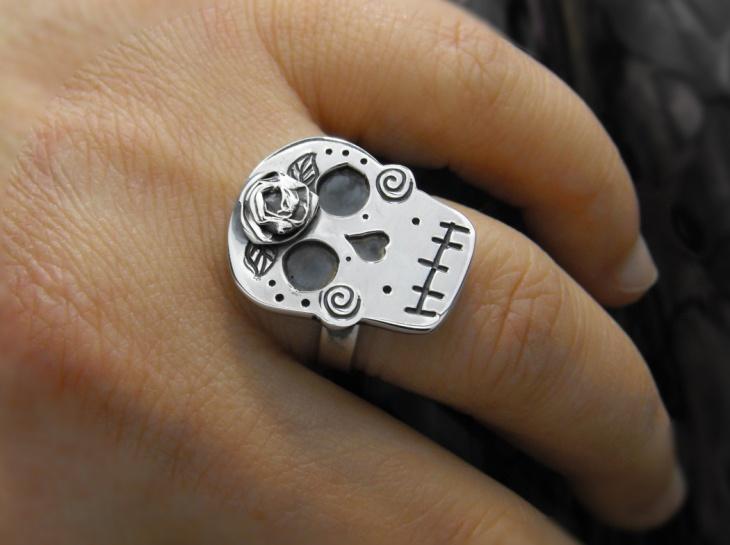 Sugar Skull Engagement Ring