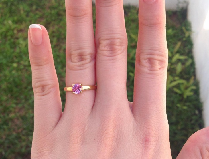 light pink engagement ring