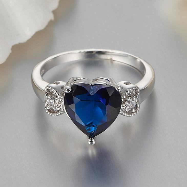 Diamond Heart Engagement Ring