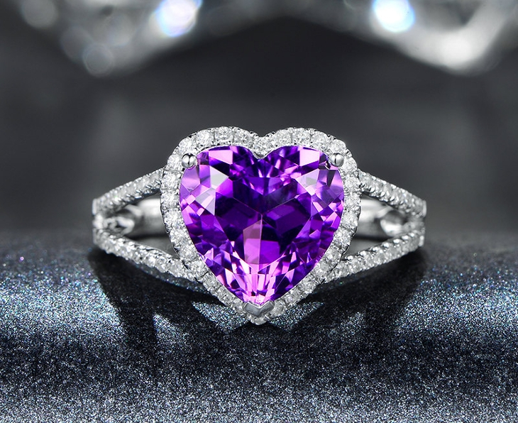 purple heart engagement ring1