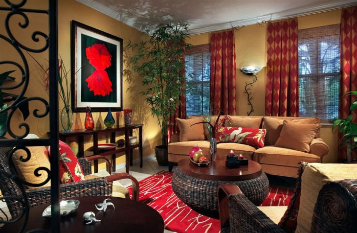 Ethnic Decor Living Room