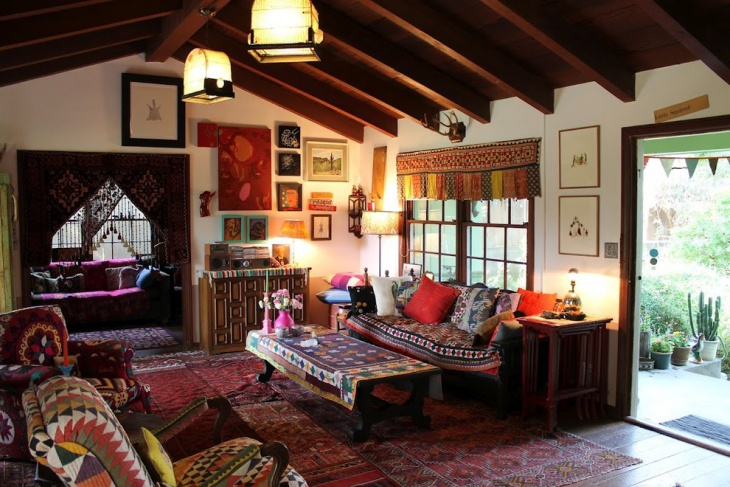 Rustic Ethnic Living Room