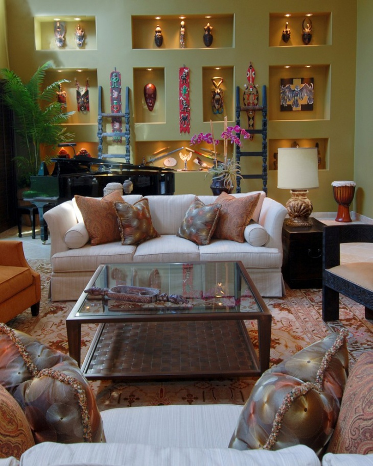 Decorative Ethnic Living Room