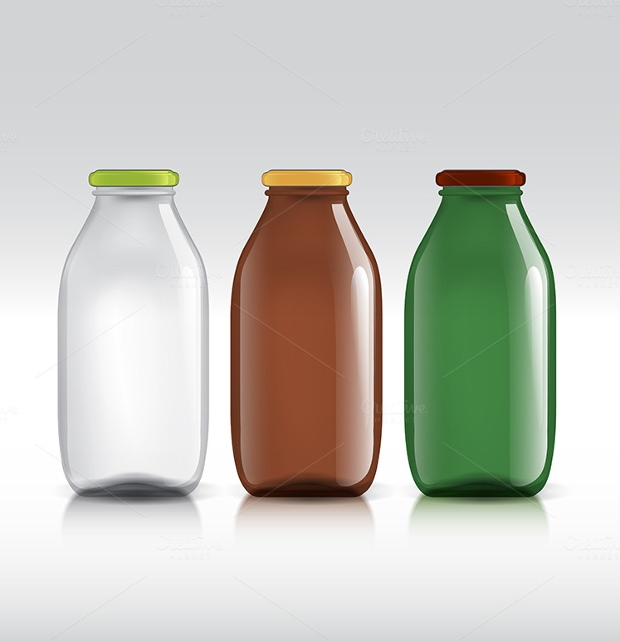 high quality glass bottle vector