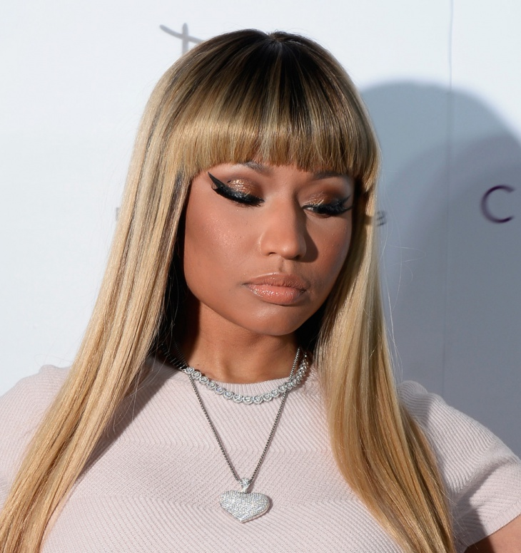 Nicki Minaj Long Fringe Hair