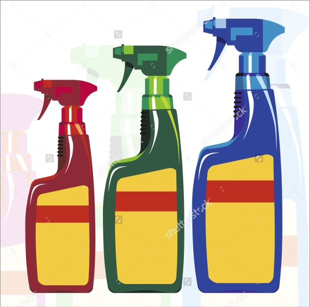 spray bottle vector design